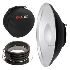 42cm Silver Beauty Dish with Padded Carry Case (Profoto) Location Studio Rigid