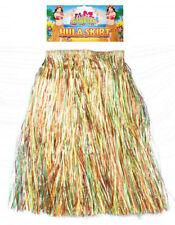 Hawaiian falda de hula - 31 cm X 60 Cm-Luau Hierba Tropical Fiesta Largo