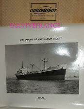 GRANDE PHOTO CNP Cie NAVIGATION PAQUET - AULNE cargo 1948-1965
