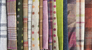 100% Wool Offcuts Remnants - Abraham Moon Fabrics. 10 pieces 17 x 22cm or bigger