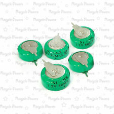 5 pieces Ni-MH 80mAh 1.2V button Rechargeable Battery with tab backup power