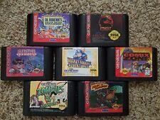 Sega Genesis Game Lot w/ 28 Games (Gunstar Heroes + Zombies Ate My Neighbors)