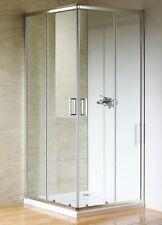 Duschkabine Eckeinstieg 90x90 cm Dusche Glasdusche Duschabtrennung Chrom Glas