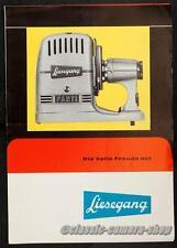 Proyector de diapositivas publicitarias folleto Liesegang Pranchére & fantax folleto (x2778