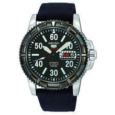 Seiko 5 Sports Military 100M Automatic Men's Watch Black Nylon Strap