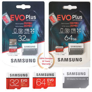 Samsung 32/64GB Micro SD Speicherkarte für Lenovo Yoga Tablett 10 HD, HD+
