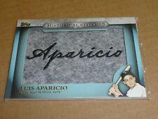 2012 Topps LUIS APARICIO HISTORICAL STITCHES PATCH WHITE SOX E3945
