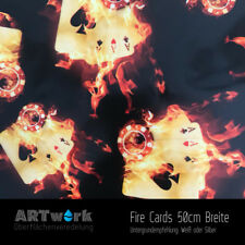 Wassertransferdruck Folie WTD Hydrographic Starterset 2m Fire Cards+Aktivator