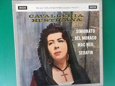CAVALLERIA RUSTICANA MASCAGNI SIMIONATO+PAGLIACCI MARIO DEL MONACO BOX 3 LP LOOK