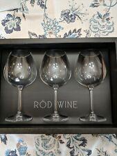 ROD Wine Titanium Lead Free Red Wine Glasses Set of 3 22 Oz Christmas Giftbox