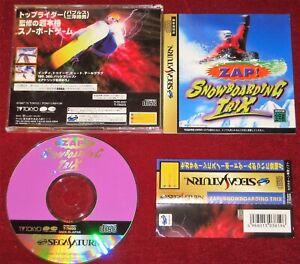 *Complete* Sega Saturn SS Sport Game Zap! Snowboarding Trix NTSC-J Japan Import