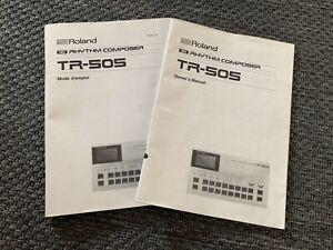 Roland TR-505 Original Bedienungsanleitungen (english/french) rar