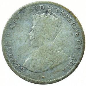 COIN / CEYLON / 10 CENTS 1913 SILVER GEORGE V BEAUTIFUL COIN  #WT30113