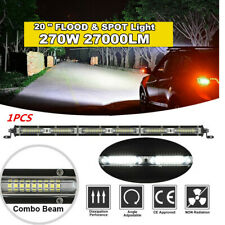 "1Pcs 20"" 270W Aluminum White Spot Flood Combo Beam Slim Car LED Work Light Bar"