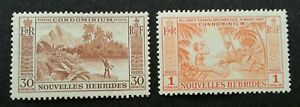 New Hebrides Definitive 1957 Beach Island Coconut Harvest (stamp) MNH *recess