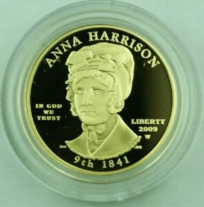 2009-W G$10 Anna Harrison US Mint First Spouse Series Gold Proof Coin