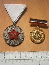 1970 YUGOSLAVIA SERBIA FIREFIGHTERS STAR FIREFIGHTING LOT MEDAL BADGE ZEMUN VSJ