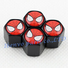 Black Styling Metal Car Wheel Tyre Tire Stem Air Valve Cap For Spider Man Styles