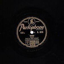 """CHILDREN'S CLASSIC  RUBY WRIGHT 78 """" BIMBO """" 1954 UK No.7  PARLOPHONE R 3816  EX"""
