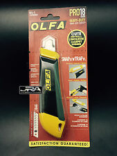 OLFA MODEL DL-1 / 18 MM KNIFE WITH BUILT IN BLADE SNAPPER / DISPOSAL CONTAINER