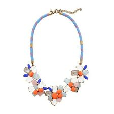 Necklace Flower Irregular Chain Multicolored Coral Bleul Evening Marriage JCR 12