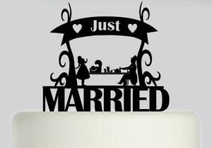Just Married Alice in Wonderland Acrylic Wedding Cake Topper Decoration.189