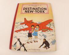 BD Jo, Zette et Jocko Destination New-York EO 1951 4ème plat B5 Hergé Casterman