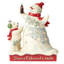 Jim Shore Coca Cola Share a Coke Snowman Polar Bear Christmas Figurine 4059473