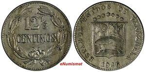 Venezuela Copper-Nickel 1946 12-1/2 Centimos Y# 30a (18 604)
