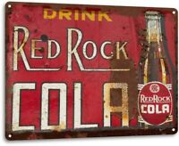 """Red Rock Cola Rust"" Metal Decor Wall Art Shop Kitchen Soda Bar Sign"
