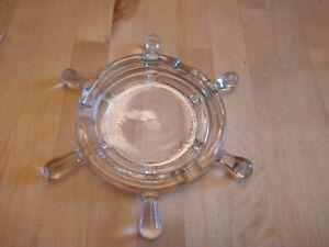 Ship's Wheel Ash Tray, Clear Glass
