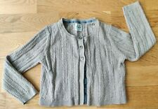 Mini Boden 4-5 years girl cardigan cashmere sparkly long-sleeved calico knit