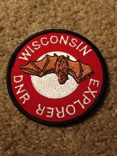 Vintage Wisconsin DNR Explorer Patch Bat