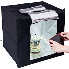 """16"""" Foldable LED Photo Studio Light Box Photography Lighting Tent Kit Cube"""
