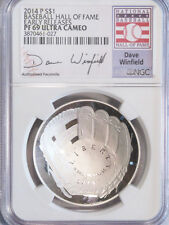 2014-P $1 Baseball Hall of Fame Early Releases NGC (Proof) PF-69 Dave Winfield
