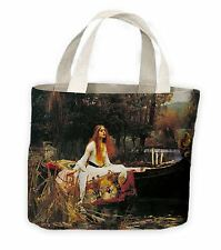 Lady of Shalott John William Waterhouse Painting Tote Shopping Bag For Life