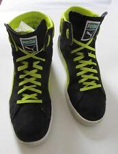 Puma First Round EX High Top Black Suede Green Men's US 9.5M UK 8.5M