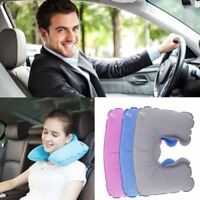 U Shape Inflatable Daydreamer Neck Head Rest Pillow Airplane Sleep Head Cushion