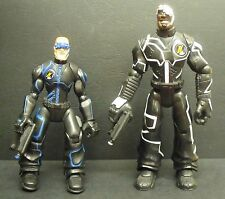 Action Man ATOM Night Ops Hawk & King with weapons - 2005 Hasbro Action Figures