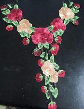 1 pcs embroidery    flower   Venice collar neck lace appliqué sew on