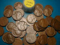 1925-S LINCOLN WHEAT CENT ROLL, 50 nice coins