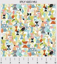 P&B Interplay by Nancy Heffron IPLY 683 MU Torn Paper Spools  BTY Cotton Fabric