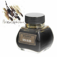 Platinum Classic Sepia Black Bottled Ink for Fountain Pens - 60ml NEW