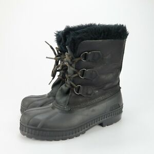 Sorel Insulated Waterproof Snow Winter Boots Womens Black Leather Size 6