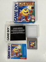 Namco Pac-Man (Nintendo Game Boy 1991) Cart w/ Box Tested, Case Manual B4B