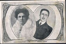 POSTCARD Archduchess Louise of Austria and Andre Giron c1905