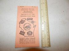 NATIONAL RAILWAY HISTORICAL SOCIETY MILWAUKEE CONVENTION 1955 SOUVENIR TICKET BO
