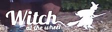 Bruja en la rueda stickers/car/van / bumper/window/decal 5109 Blanco