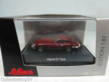Schuco : Jaguar E-Type dkl.rot   No: 25510  Scale 1:87