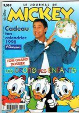 LE JOURNAL DE MICKEY n°2378 ¤ 1998 ¤ AVEC CADEAU CALENDRIER +POSTER DROIT ENFANT